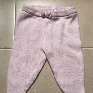 EUC Janie and Jack pink sweater pants 3-6 mos